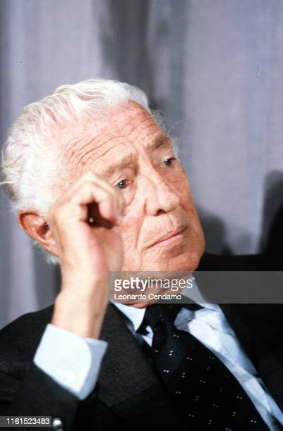 Giovanni Agnelli called Gianni Industrial lawyer entrepreneur principal shareholder and leader of Fiat group Milan Italy February 1990