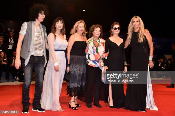 Giovanni Allevi, Valentina Lodovini,Rosetta Sannelli, Claudia Cardinale, Susan Sarandon and Tiziana Rocca walk the red carpet ahead of the 'The...