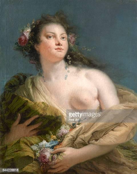 Giovanni Battista Tiepolo Portrait of a Lady as Flora Oil on canvas Private collection