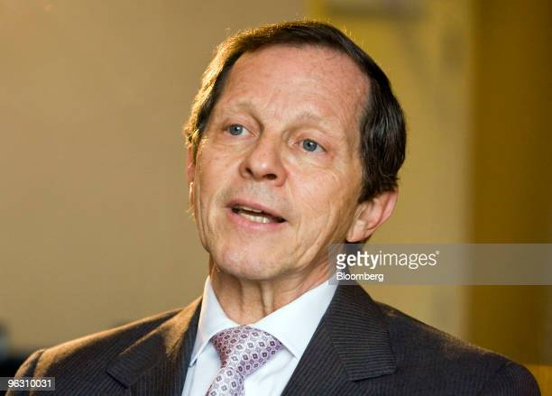 Giovanni Bisignani chief executive officer of the International Air Transport Association speaks during an interview in Singapore on Sunday Jan 31...