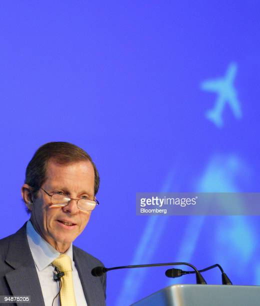 Giovanni Bisignani director general of the International Air Transport Association or IATA speaks at a news conference in Singapore on Monday Feb 18...
