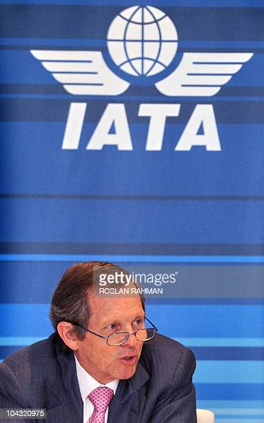 Giovanni Bisignani, International Air Transport Association director general and CEO talks to reporters during a press briefing in Singapore on...