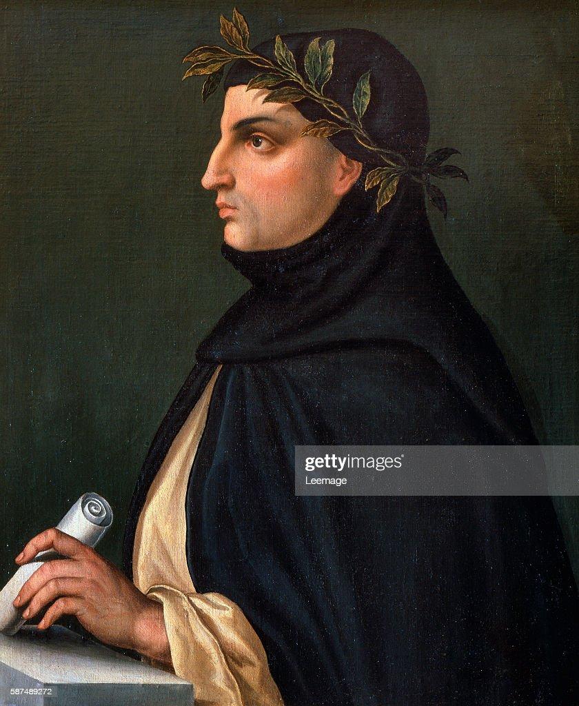 Portrait of Italian poet Giovanni Boccaccio : News Photo