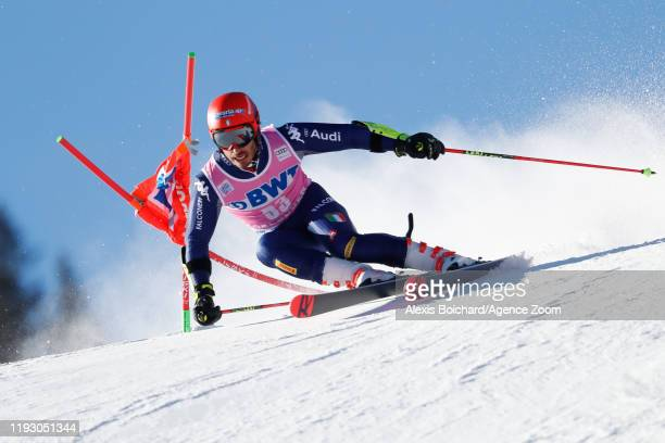 Giovanni Borsotti of Italy competes during the Audi FIS Alpine Ski World Cup Men's Giant Slalom on January 11 2020 in Adelboden Switzerland