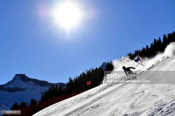 Giovanni Borsotti of Italy in action during the Audi FIS Alpine Ski World Cup Men's Giant Slalom on January 11 2020 in Adelboden Switzerland