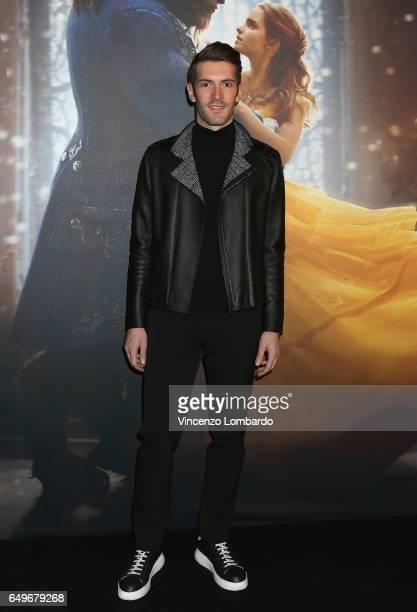 Giovanni Caccamo attends 'La Bella E La Bestia' premiere on March 8 2017 in Milan Italy