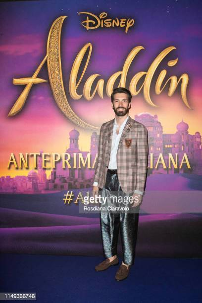 Giovanni Caccamo attends the Aladdin photocall and red carpet at The Space Cinema Odeon on May 15 2019 in Milan Italy