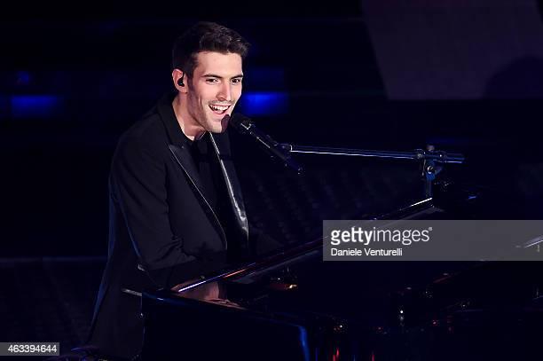 Giovanni Caccamo attends the fourth night of 65th Festival di Sanremo 2015 at Teatro Ariston on February 13 2015 in Sanremo Italy