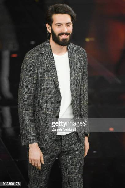 Giovanni Caccamo attends the third night of the 68 Sanremo Music Festival on February 8 2018 in Sanremo Italy