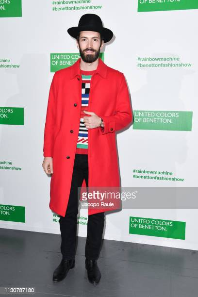 Giovanni Caccamo attends the United Colours Of Benetton show at Milan Fashion Week Autumn/Winter 2019/20 on February 19 2019 in Milan Italy