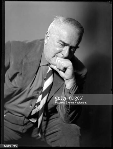 Giovanni Comisso Italian writer Portrait by Italian photographer Ghitta Carell official portraitist of the Italian personalities of the regime of...