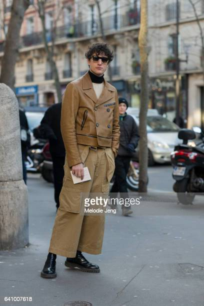 Giovanni Dario Laudicina outside the Lemaire show at Palais de la Femme show on January 18 2017 in Paris France