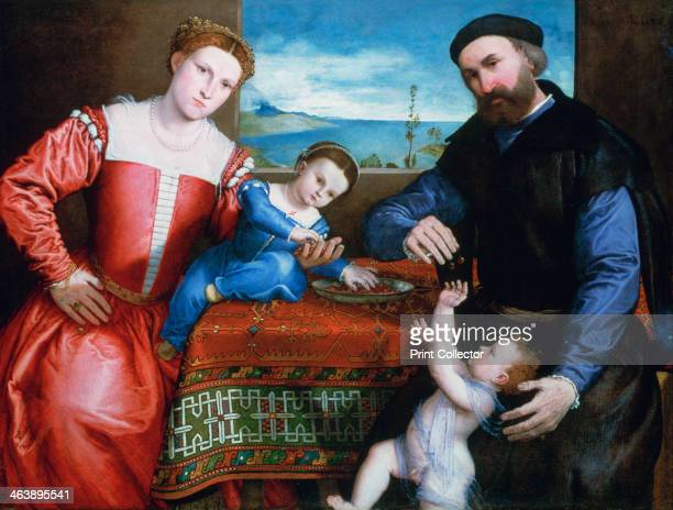 'Giovanni della Volta with his Wife and Children' c1547 Found in the collection of the National Gallery London