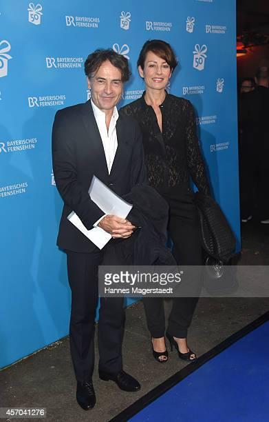 Giovanni di Lorenzo and Sabrina Staubitz attend the BR 50 year anniversary gala at Bavaria Filmstadt Geiselgasteig on October 10 2014 in Munich...