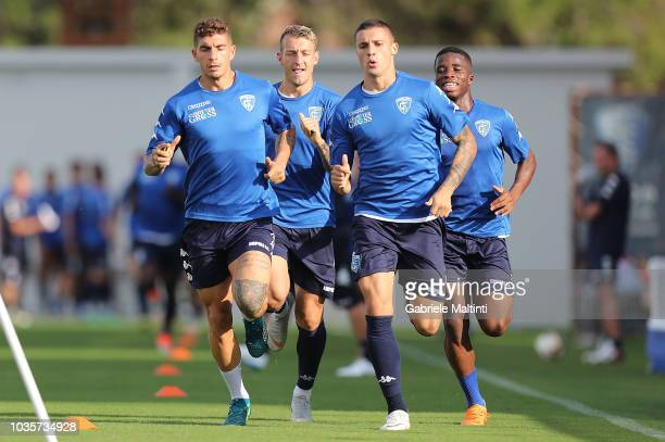 Giovanni Di Lorenzo Antonino La Gumina Rade Krunic and Hamed Junior Traore' of Empoli FC in action during training session on September 18 2018 in...