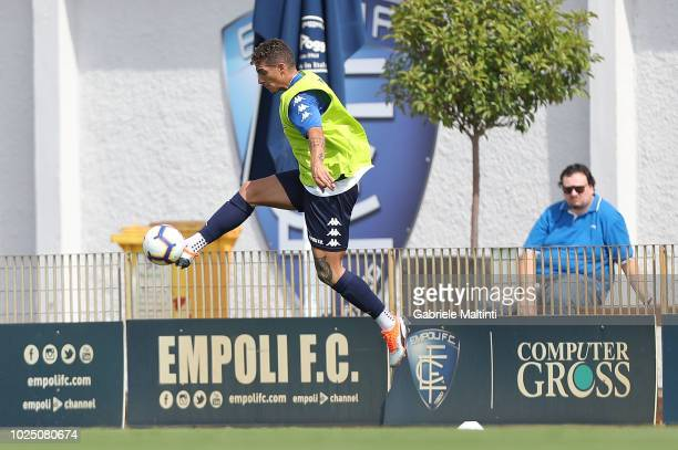 Giovanni Di Lorenzo of Empoli FC controls the ball during training session on August 29 2018 in Empoli Italy