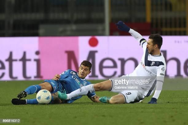 Giovanni Di Lorenzo of Empoli FC in action against Andrea Caracciolo of Brerscia Calcio during the Serie B match between Empoli FC and Brescia Calcio...