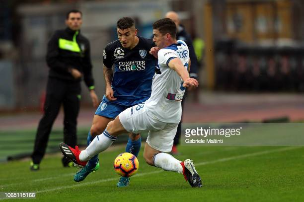 Giovanni Di Lorenzo of Empoli Fc in action during the Serie A match between Empoli and Atalanta BC at Stadio Carlo Castellani on November 25 2018 in...