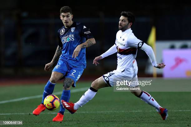 Giovanni Di Lorenzo of Empoli FC in action during the Serie A match between Empoli and Genoa CFC at Stadio Carlo Castellani on January 28 2019 in...