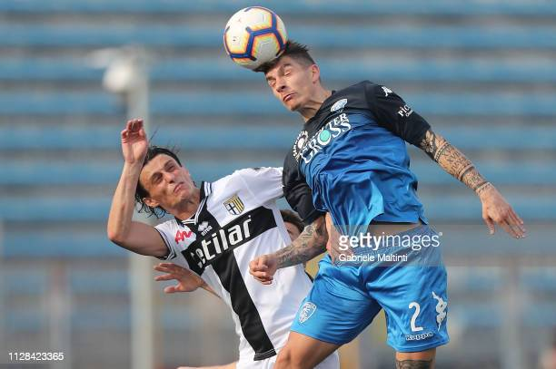 Giovanni Di Lorenzo of Empoli FC in action during the Serie A match between Empoli and Parma Calcio at Stadio Carlo Castellani on March 2 2019 in...