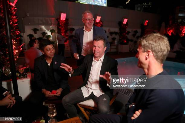 Giovanni Elber attends with Lothar Matthaeus, Karl-Heinz Rummenigge, CEO of FC Bayern Muenchen and Thomas Mueller the Audi Player Night 2019 at...