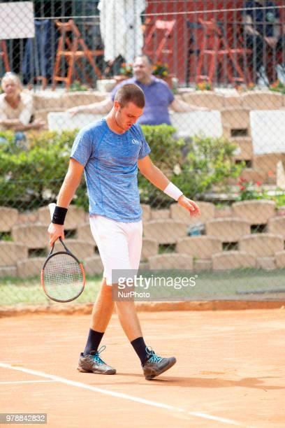 Giovanni Fonio during match between Roberto Carballes Baena and Giovanni Fonio during day 4 at the Internazionali di Tennis Citt dell'Aquila in...