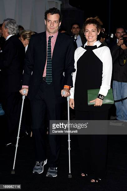 Giovanni Gaetani dell'Aquila d'Aragona and Ginevra Elkann attend 'One Night Only' Roma on June 5, 2013 in Rome, Italy.