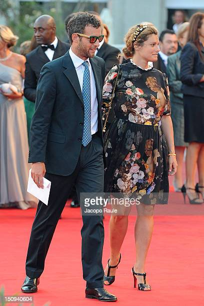 Giovanni Gaetani Dell'Aquila D'aragona and Ginevra Elkann attend the 'The Reluctant Fundamentalist' premiere and opening ceremony at the 69th Venice...