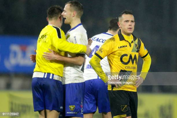 Giovanni Korte of NAC Breda during the Dutch Eredivisie match between NAC Breda v VVVVenlo at the Rat Verlegh Stadium on January 27 2018 in Breda...