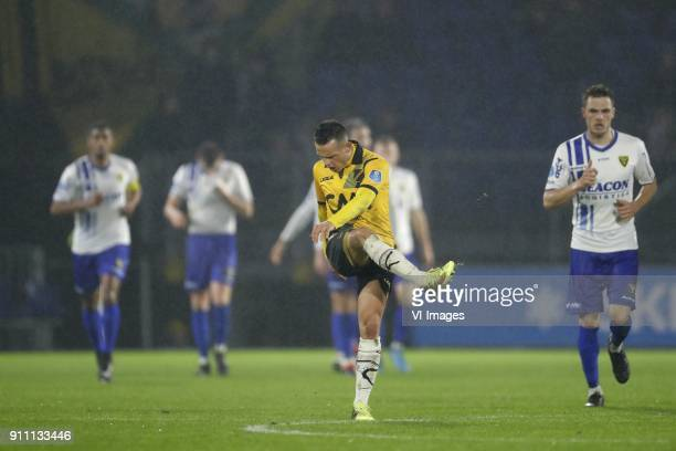 Giovanni Korte of NAC Breda during the Dutch Eredivisie match between NAC Breda and VVV Venlo at the Rat Verlegh stadium on January 27 2018 in Breda...