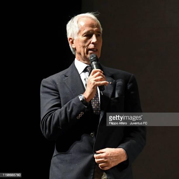 Giovanni Malago attends The 'Anno Sportivo Piemontese 2020' Prize on February 4, 2020 in Novara, Italy.
