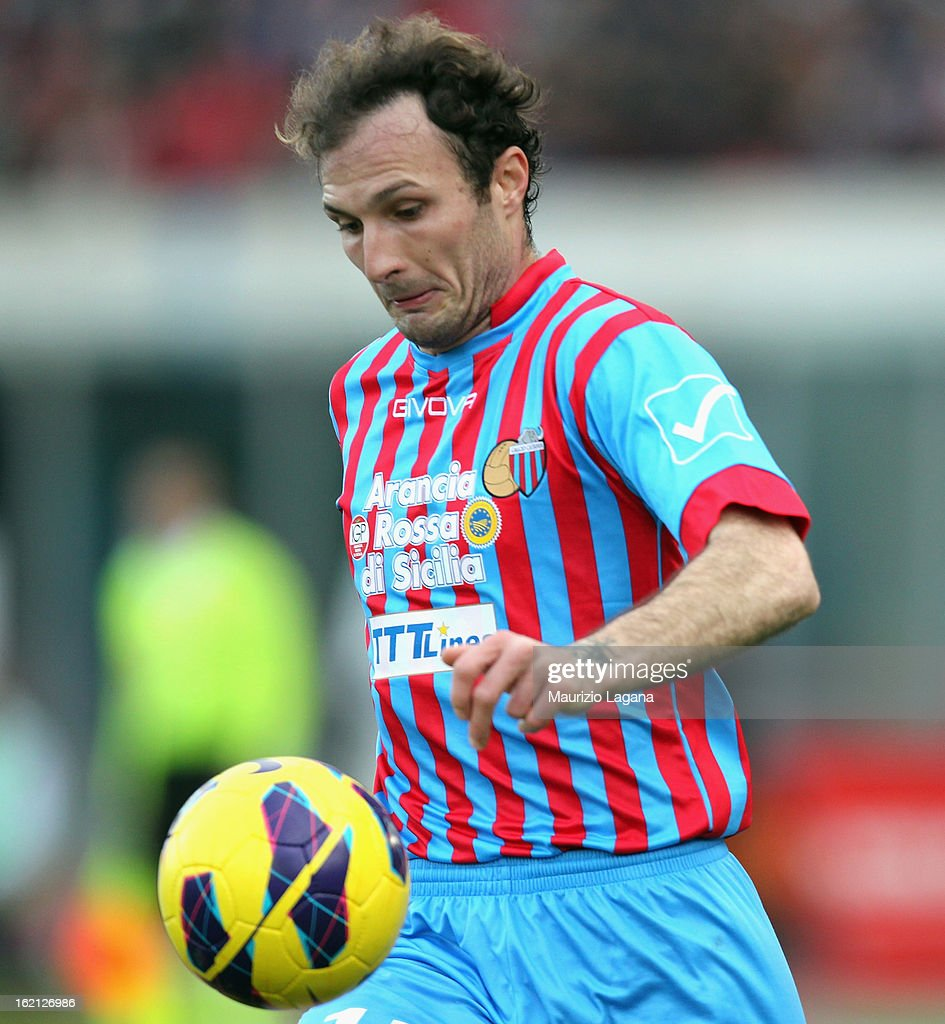 Giovanni Marchese of Catania during the Serie A match between Calcio Catania and Bologna FC at Stadio Angelo Massimino on February 17, 2013 in Catania, Italy.