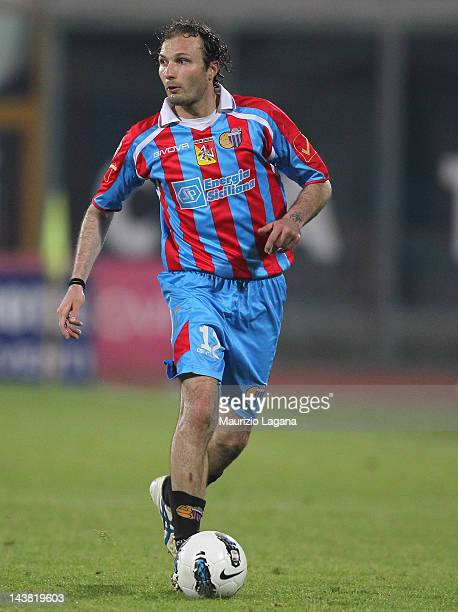 Giovanni Marchese of during the Serie A match between Catania Calcio and Bologna FC at Stadio Angelo Massimino on May 2 2012 in Catania Italy