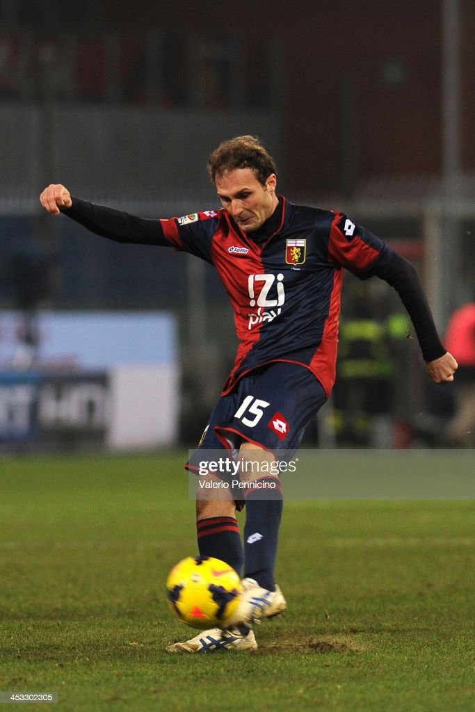 Giovanni Marchese of Genoa CFC in action during the Serie A match between Genoa CFC and Torino FC at Stadio Luigi Ferraris on November 30, 2013 in Genoa, Italy.