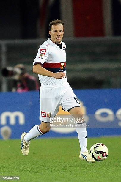Giovanni Marchese of Genoa CFC in action during the Serie A match between Hellas Verona FC and Genoa CFC at Stadio Marc'Antonio Bentegodi on...