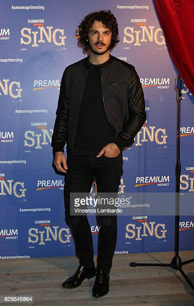 Giovanni Masiero attends a photocall for 'Sing' on December 13 2016 in Milan Italy
