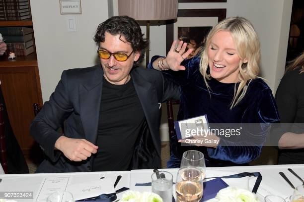 Giovanni Morelli and Laura Brown attend the Opening of Beverly Hills Boutique with a private VIP dinner hosted by Giovanni Morelli Stuart Weitzman...