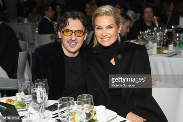 Giovanni Morelli Stuart Weitzman Creative Director and Yolanda Hadid attend the Pencils of Promise Annual Gala 2017 in Central Park on December 7...