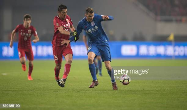 Giovanni Moreno of Shanghai Greenland Shenhua in action during the 2017 CFA Cup Final Round match between Shanghai SIPG and Shanghai Greenland...