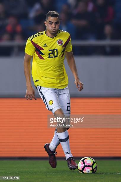 Giovanni Moreno of Colombia in action during International Friendly Football Match between China and Colombia at the Chongqing Olympic Sports Center...