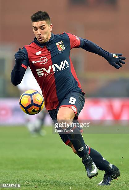 Giovanni Pablo Simeone of Genoa during the Serie A match between Genoa CFC and FC Crotone at Stadio Luigi Ferraris on January 22 2017 in Genoa Italy
