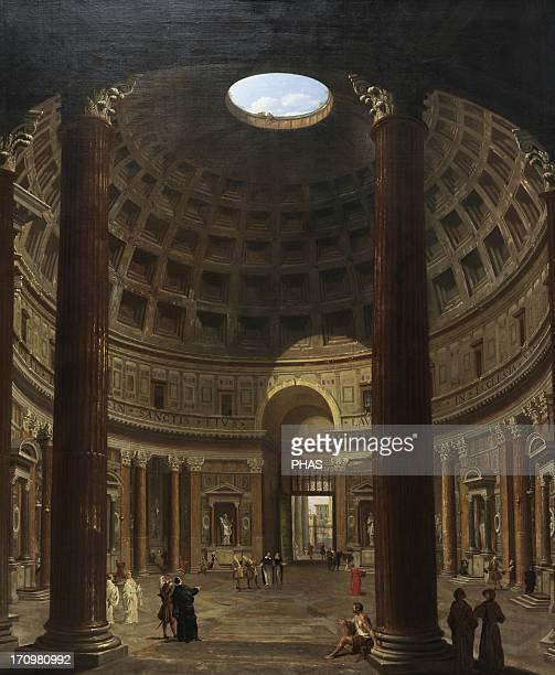 Giovanni Paolo Pannini Italian painter Interior of the Pantheon Rome 17061775 National Museum of Art Copenhagen Denmark
