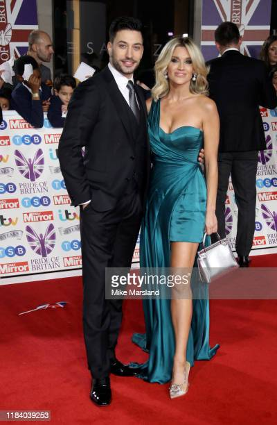 Giovanni Pernice and Ashley Roberts attend Pride Of Britain Awards 2019 at The Grosvenor House Hotel on October 28 2019 in London England
