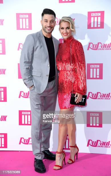 Giovanni Pernice and Ashley Roberts attend the Ru Paul's Drag Race UK Launch on September 17 2019 in London England