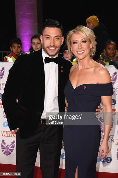 Giovanni Pernice and Faye Tozer attend the Pride of Britain Awards 2018 at The Grosvenor House Hotel on October 29 2018 in London England