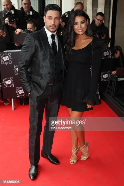 Giovanni Pernice and Jess Wright attend the TRIC Awards 2018 held at The Grosvenor House Hotel on March 13 2018 in London England