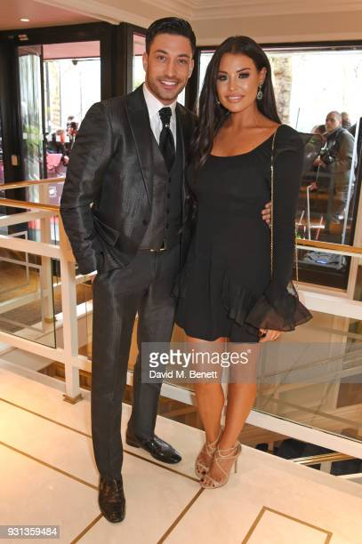 Giovanni Pernice and Jessica Wright attend the TRIC Awards 2018 held at The Grosvenor House Hotel on March 13 2018 in London England