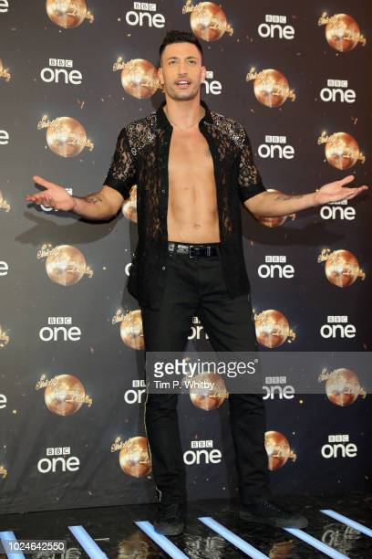 Giovanni Pernice attends the red carpet launch for 'Strictly Come Dancing 2018' at Old Broadcasting House on August 27 2018 in London England
