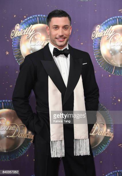Giovanni Pernice attends the 'Strictly Come Dancing 2017' red carpet launch at Broadcasting House on August 28 2017 in London England