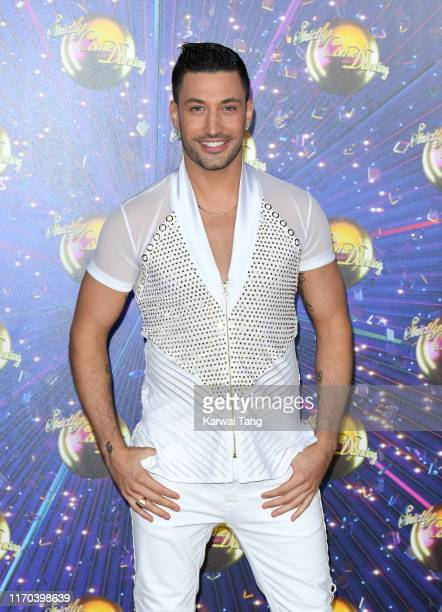 Giovanni Pernice attends the Strictly Come Dancing launch show red carpet arrivals at Television Centre on August 26 2019 in London England